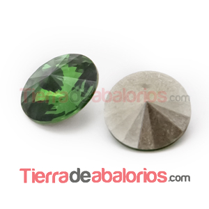 Rivoli Swarovski 12mm Dark Moss Green
