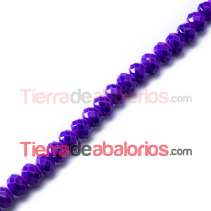 Bola Rondel Snake Skin 8x6mm Agujero 1mm Purple
