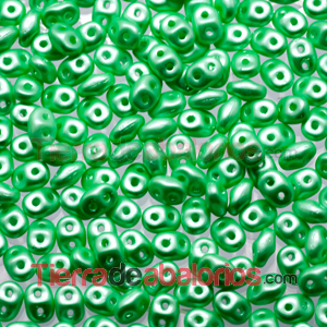 Superduo 2,5x5mm Pastel Light Green Chrysolite