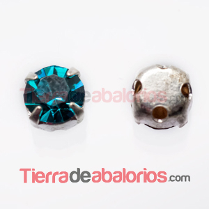 Chatón Engastado SS20 - Blue Zircon