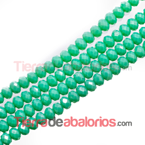 Bola Rondel 6x5mm Agujero 1mm Verde Turquesa