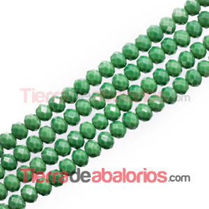 Bola Rondel 6x5mm Agujero 1mm Verde Musgo