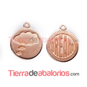 Medalla 15mm Dream, Oro Rosa