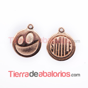 Medalla 15mm Smile, Oro Rosa