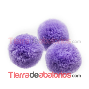 Pompon Bola 18mm Purpura Claro
