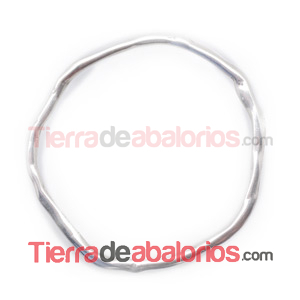 Aro Irregular 63mm, Plateado