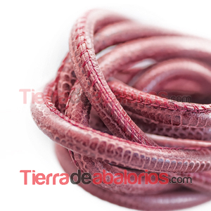 Cordón Nappa 6mm Dark Red (20cm)