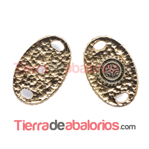 Conector Oval Personalizable 26x17mm, Dorado