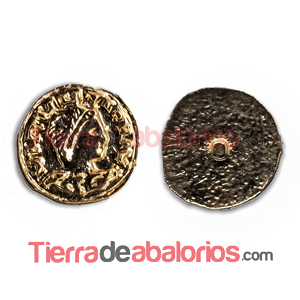 Moneda Antigua con Perno 11mm Dorada