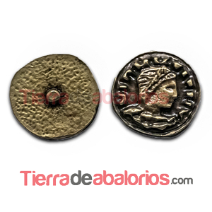 Moneda Antigua con Perno 11mm Oro Viejo
