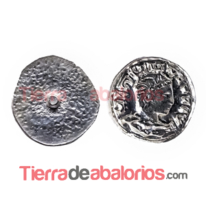 Moneda Antigua con Perno 11mm Plateada