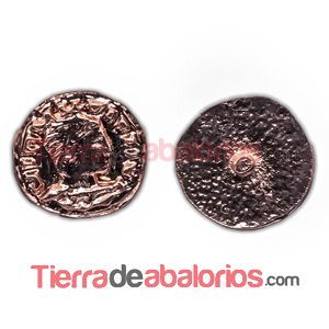 Moneda Antigua con Perno 11mm Oro Rosa