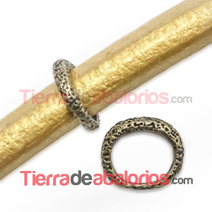 Anilla Regaliz Puntitos 15x13mm Agujero 10x8mm Oro Viejo