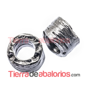 Tubo Irregular 7x9mm Agujero 5,5mm Pavonado