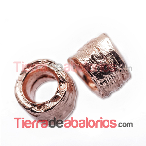 Tubo Irregular 7x9mm Agujero 5,5mm Oro Rosa