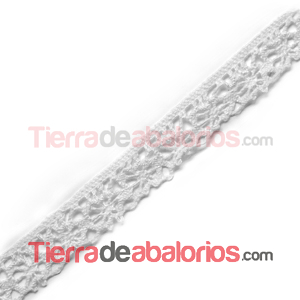 Puntilla de Bolillo 12mm - Blanco