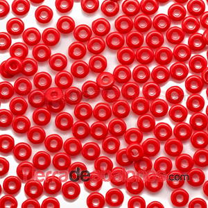 O-Bead 3,8x1mm Opaque Red