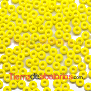 O-Bead 3,8x1mm Opaque Yellow