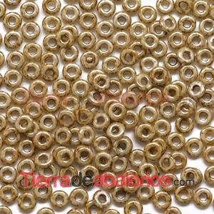 O-Bead 3,8x1mm Natural Travertin