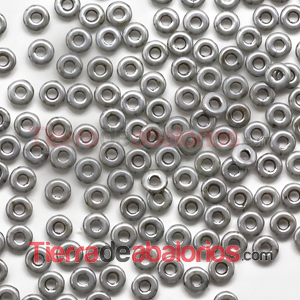 O-Bead 3,8x1mm Chalk Grey Travertin