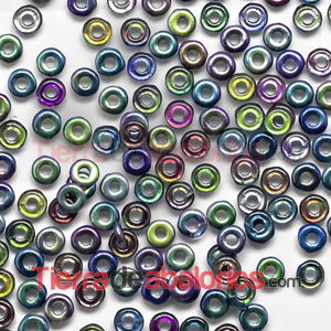 O-Bead 3,8x1mm Magic Rainbow