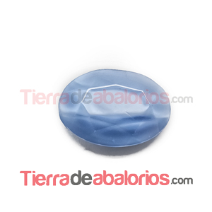 Cabujón Oval Facetado 25x18mm Sky Silky