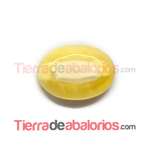 Cabujón Oval Facetado 25x18mm Lemon Silky