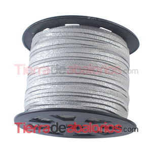 Ante 3mm Gris Purpurina Plata