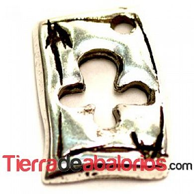 Naipe Colgante As de Trebol 12x10mm - Plateado
