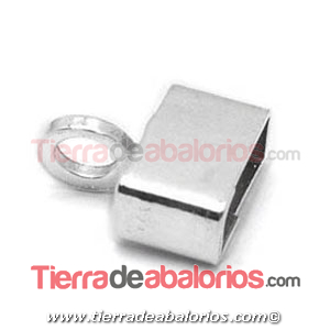 Terminal Rectangular 8x2,6mm, Agujero 8x2mm, Plata de Ley