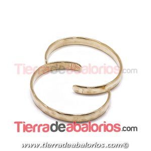 Pulsera Irregular 60mm, Ancho 7mm, Dorada