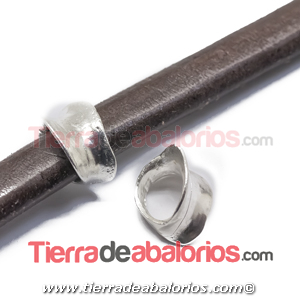 Entrepieza Regaliz Irregular 15x11mm Agujero 10x7mm Plateada