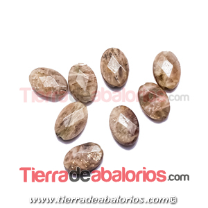 Piedra Sol Oval Facetada 12x9mm Agujero 1,3mm
