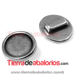 Pasador con Base para Crystal Rock Swarovski 15mm, Plateado