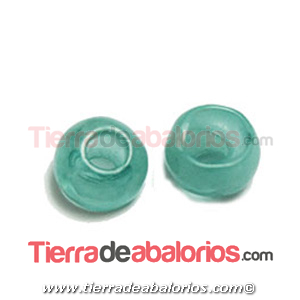 Resina Donut Irregular 7mm Agujero 2,5mm Turquesa