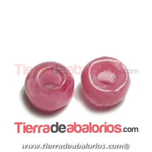 Resina Donut Irregular 7mm Agujero 2,5mm Rosa