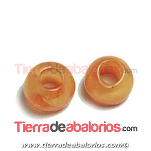 Resina Donut Irregular 7mm Agujero 2,5mm Naranja