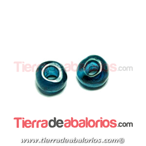 Resina Donut Irregular 7mm Agujero 2,5mm Azul