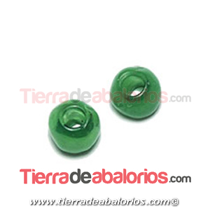 Resina Donut Irregular 7mm Agujero 2,5mm Verde