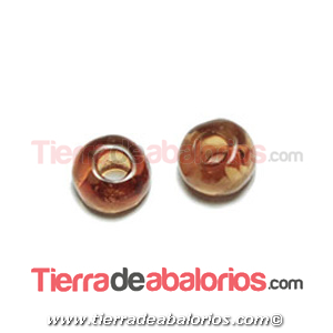 Resina Donut Irregular 7mm Agujero 2,5mm Champan