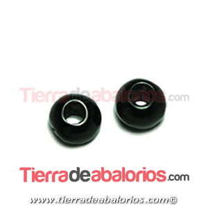 Resina Donut Irregular 7mm Agujero 2,5mm Negro