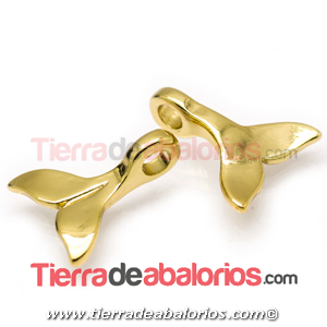Cola de Ballena 27x22mm Agujero 5mm, Dorado
