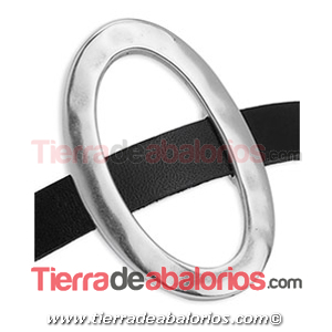 Entrepieza Aro Oval Irregular 46x30mm Agujero 10x2,5mm