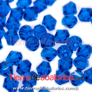 Tupi Bohemia 4mm - Blue Zircon (50uds.)