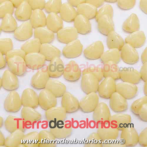Pinch Beads 5x3mm Ivory Ceramic Look (25 uds.)