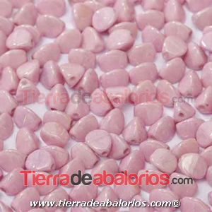 Pinch Beads 5x3mm Pink Ceramic Look (25 uds.)