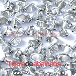 Pinch Beads 5x3mm Silver Full (25 uds.)