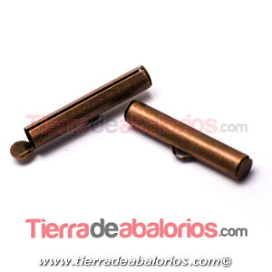 Terminal Tubo 26mm Agujero Lateral 3,7mm, Cobre