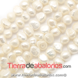 Perla Cultivada Irregular 8x7mm Agujero 0,5mm