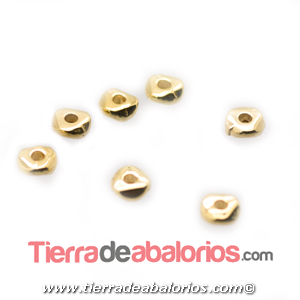 Entrepieza Irregular 5x1,9mm, Agujero 1,4mm, Dorado